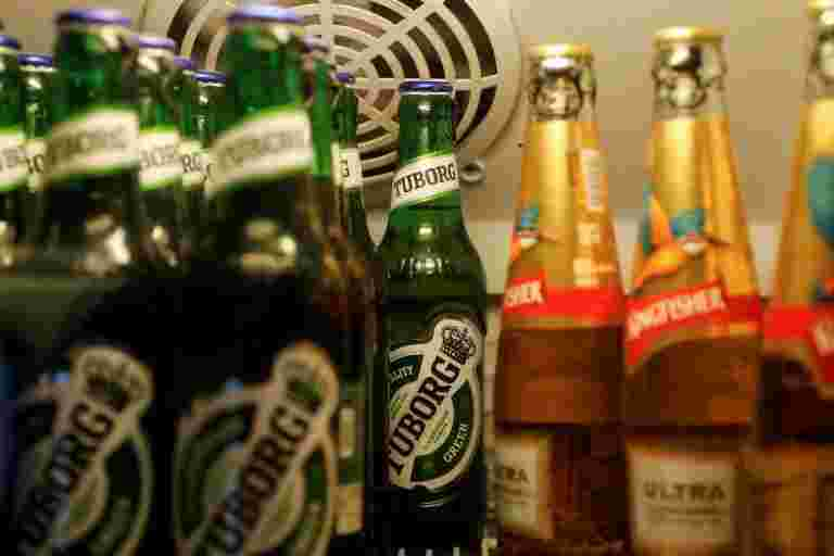 学习说,印度的酒精在七年内投入38%
