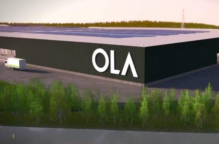OLA揭示了印度市场的电子踏板车的首次外观