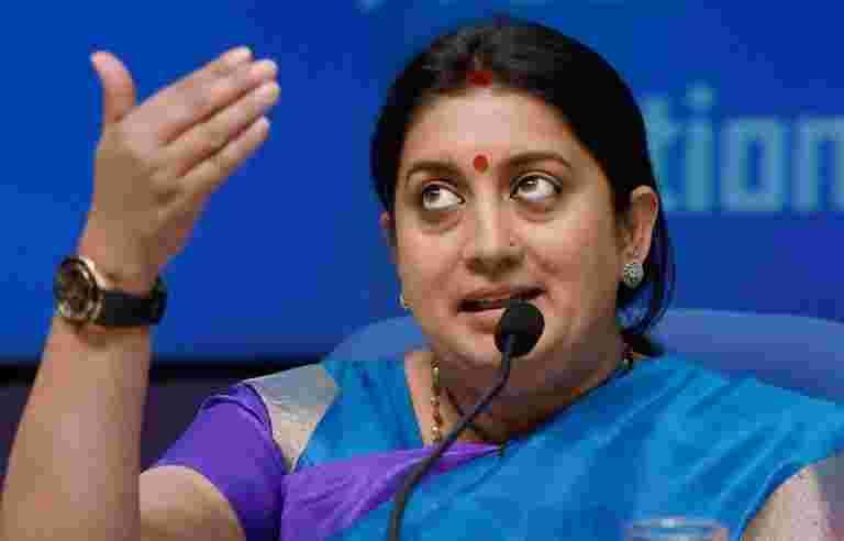 Smriti Irani表示,印度很快就拥有了服装尺寸的标准